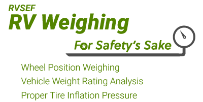 RVSEF RV Weighing
